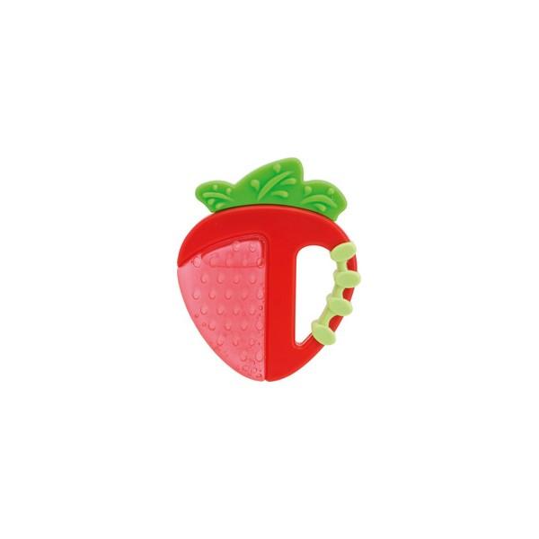 Chicco κρίκος οδοντοφυΐας fresh relax 4+  Φράουλα 1τμχ